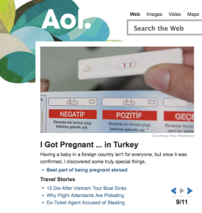 Knocked Up Abroad AOL home screen