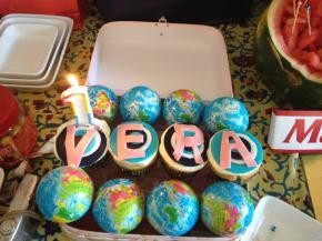 Vera birthday nazar evil eye cupcakes