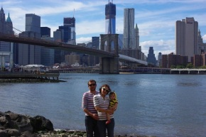 Brooklyn Bridge Park, where we got married eight years ago.