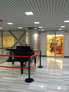Actual grand piano outside women's clinic, American Hospital, Istanbul
